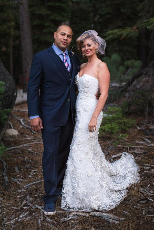 Lake Tahoe Wedding Photographer bride and groom portrait