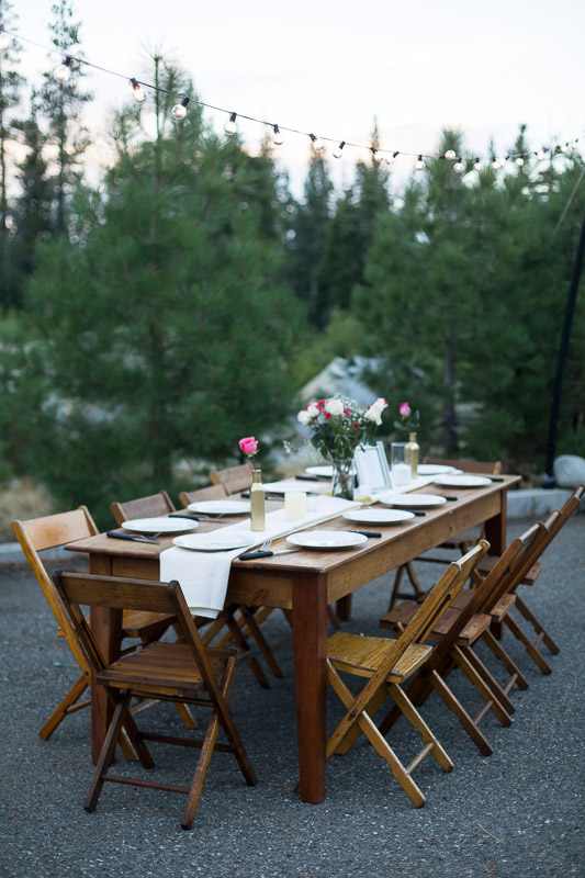 Lake Tahoe Wedding Photographer table settings