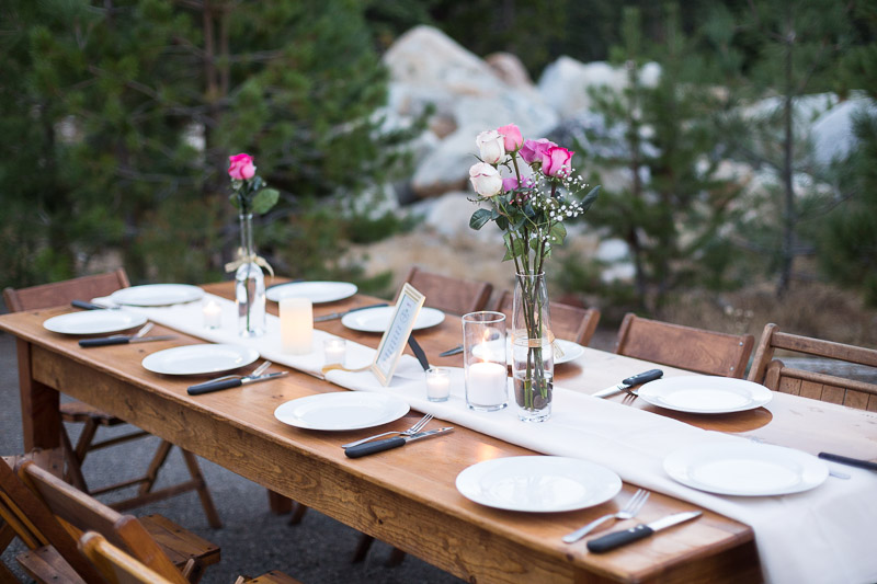 Lake Tahoe Wedding Photographer tables