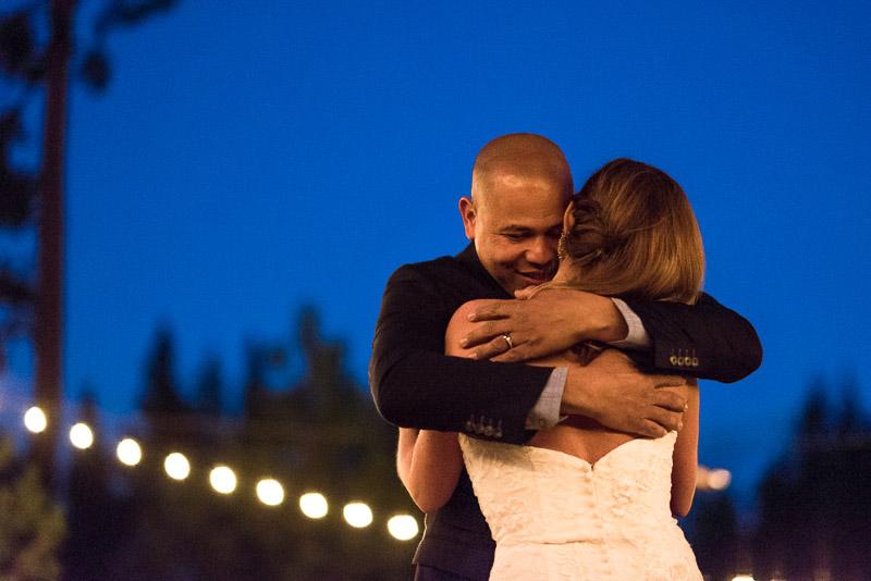 Lake Tahoe Wedding Photographer first dance
