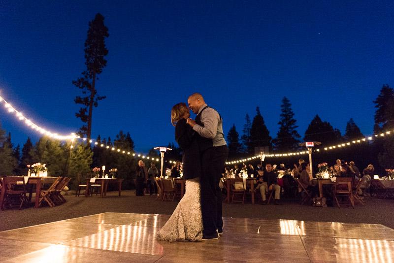 Lake Tahoe Wedding Photographer laughing first dance