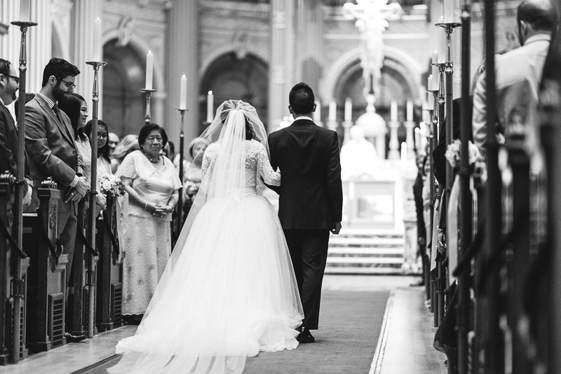 San Francisco St Ignatius Church Wedding Photography