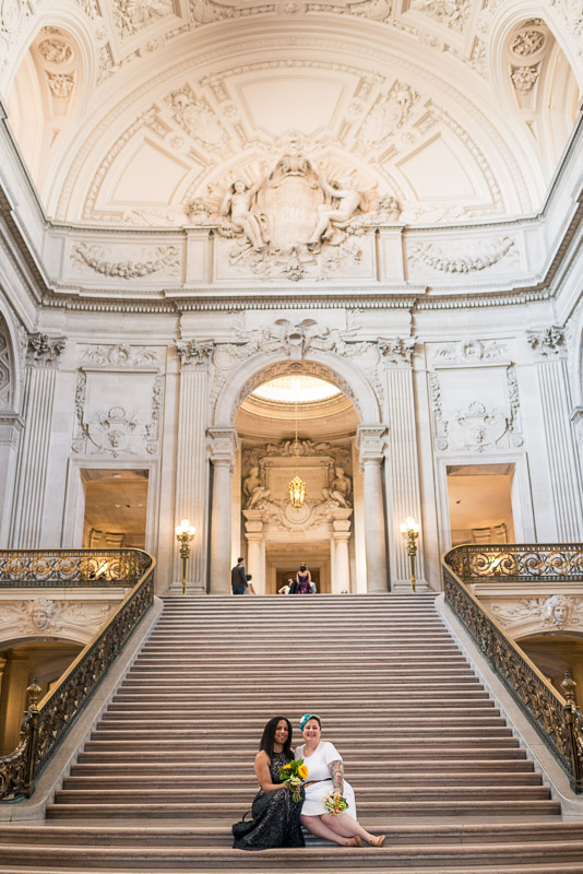 San Francisco City Hall Wedding Photography same sex