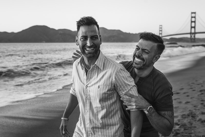 San Francisco Same Sex Engagement Photography Baker Beach