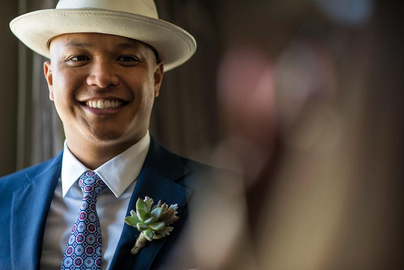 San Francisco Wedding Photography happy groom