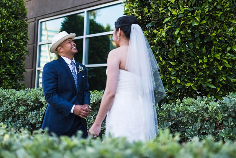 San Francisco Wedding Photography first look