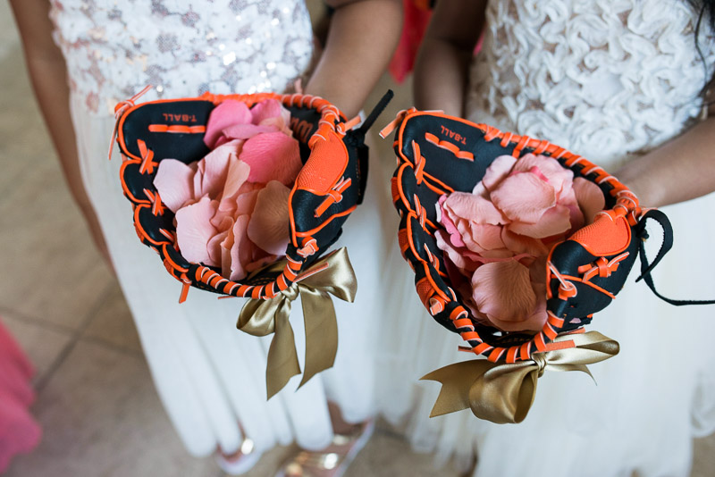 San Francisco Wedding Photography giants baseball gloves