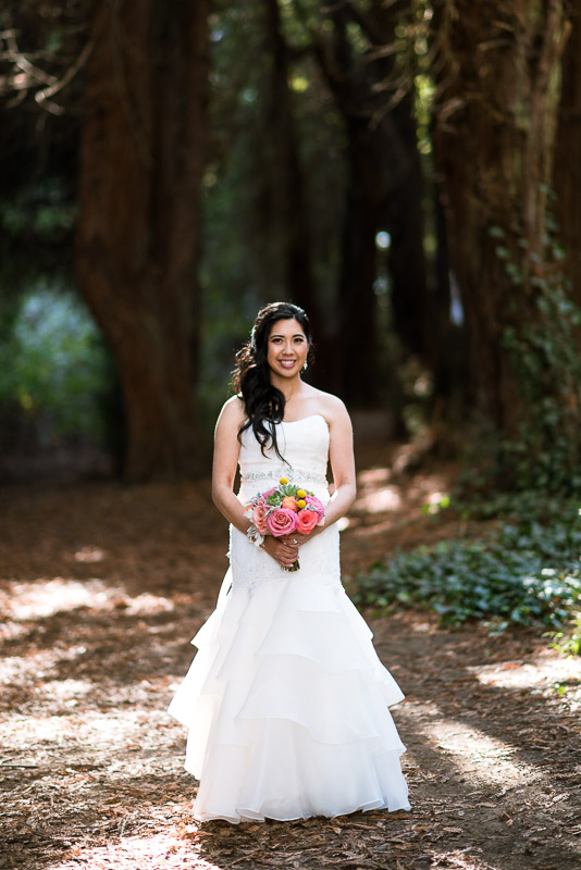 San Francisco Wedding Photography bride with bouquet