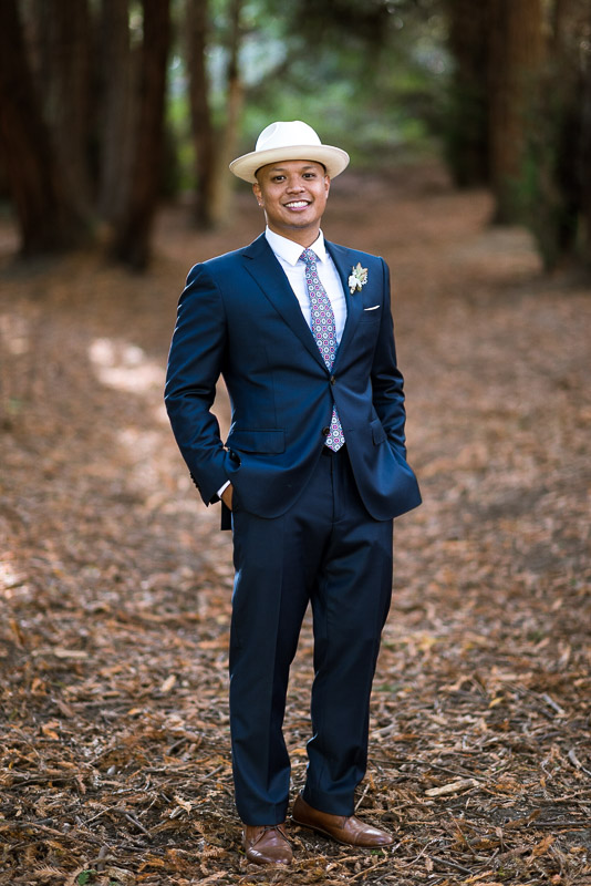 San Francisco Wedding Photography groom with hat