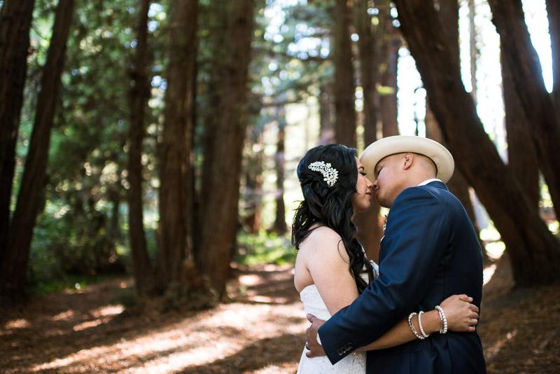 San Francisco Wedding Photography kissing couple