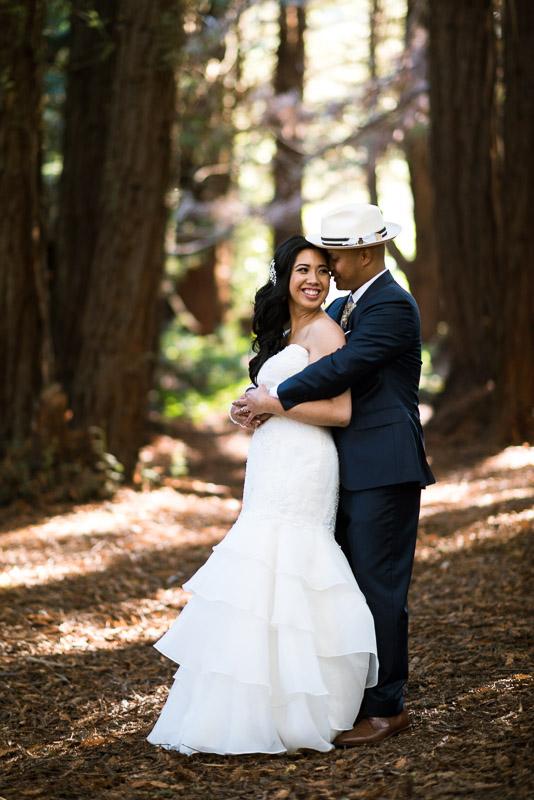San Francisco Wedding Photography hugging couple