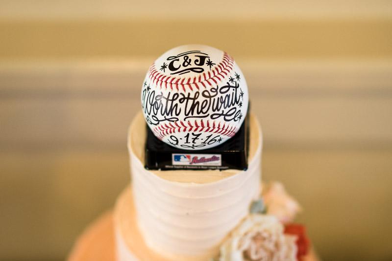 San Francisco Wedding Photography cake baseball