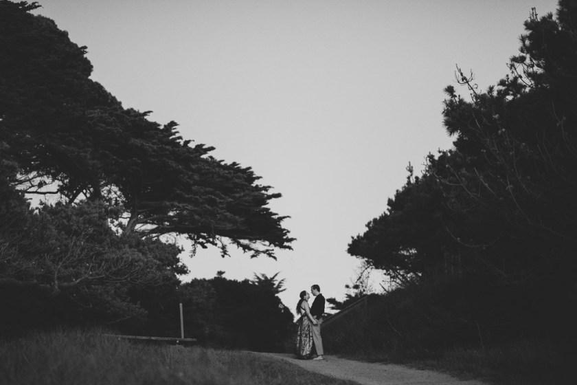 San Francisco beach engagement photography