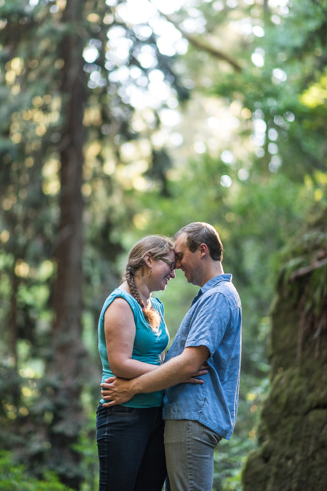 San Francisco redwood engagement photography