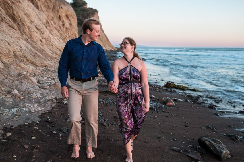 San Francisco beach engagement photography