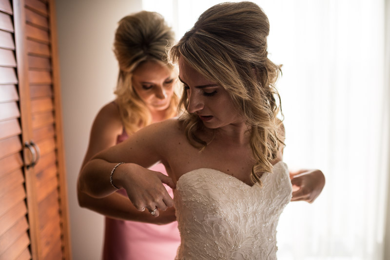 San Jose wedding photography bride getting dressed