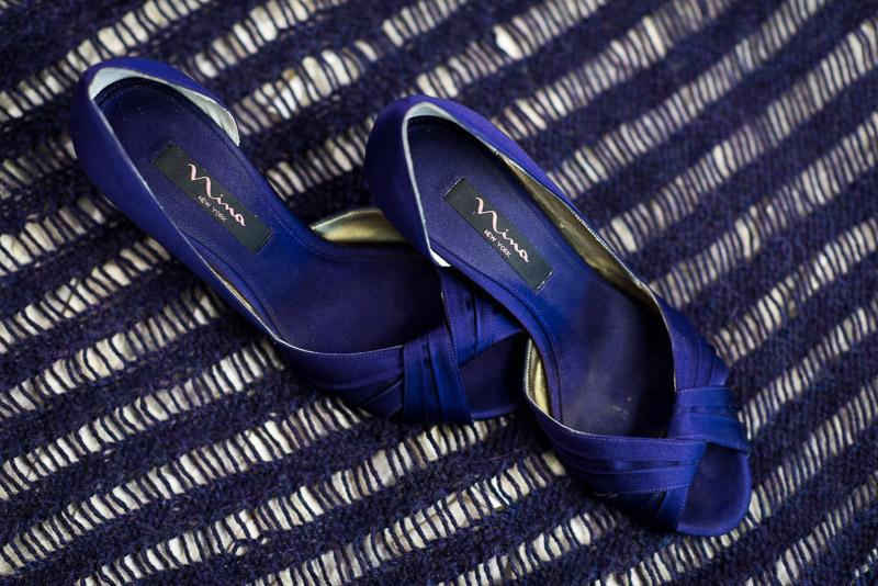 San Francisco Wedding Photography Villa Chanticleer blue wedding shoes
