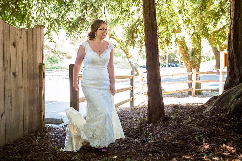 San Francisco Wedding Photography Villa Chanticleer bride first look