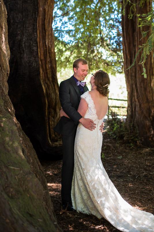 San Francisco Wedding Photography Villa Chanticleer first look eisenhower tree