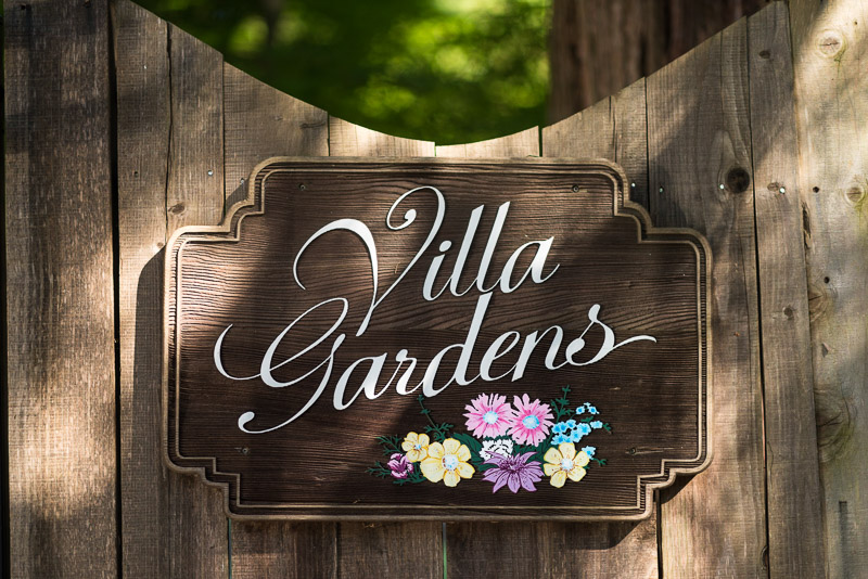 San Francisco Wedding Photography Villa Chanticleer villa gardens sign