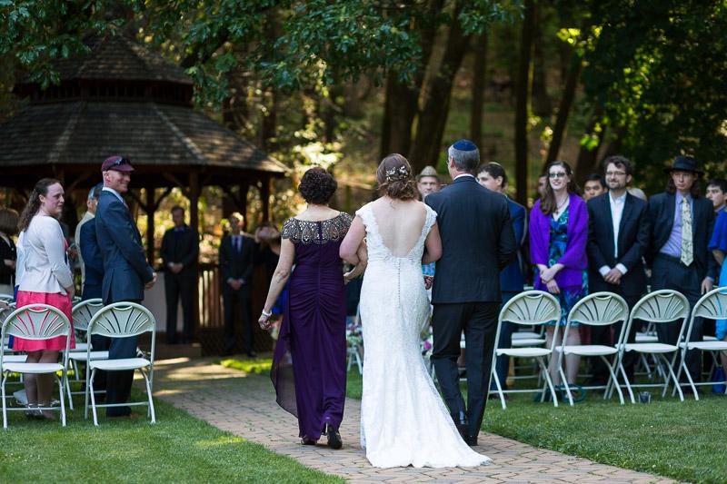 San Francisco Wedding Photography Villa Chanticleer bride walking down aisle