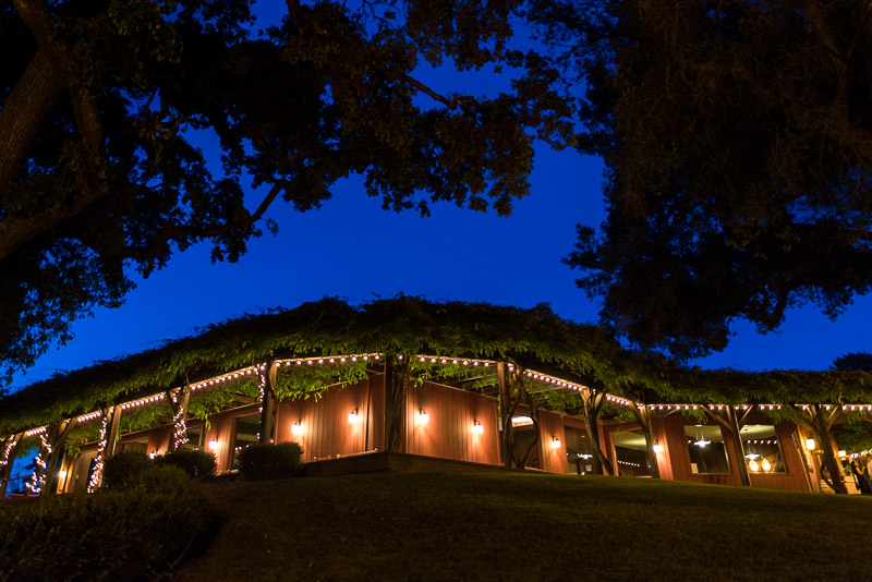 San Francisco Wedding Photography Villa Chanticleer venue at night