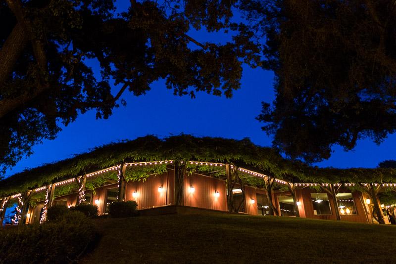 San Francisco Wedding Photography Villa Chanticleer venue at night