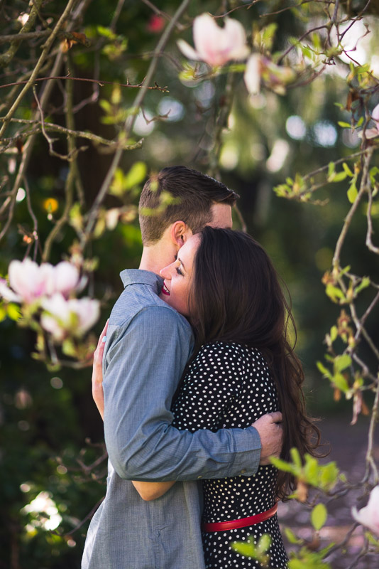 Sonoma Chateau St Jean Vineyard engagement hug
