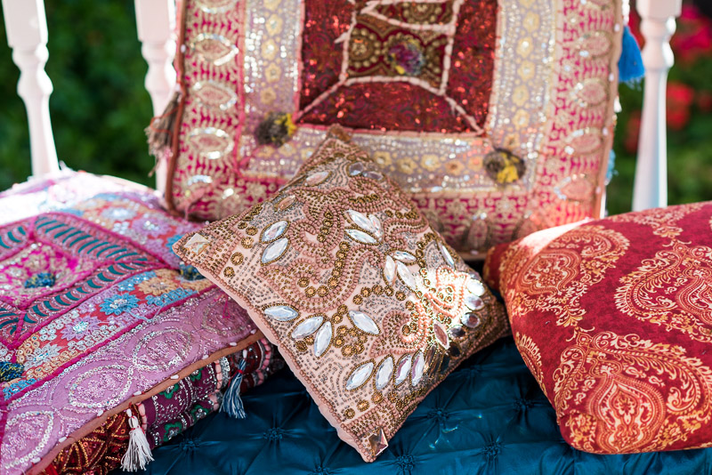 San Francisco Mehndi Ceremony Photographer cushions