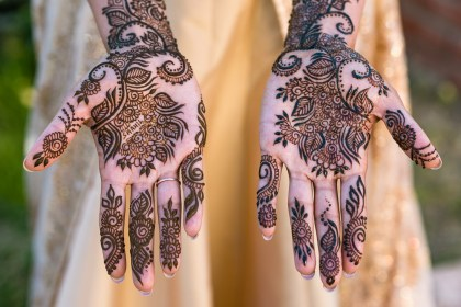San Francisco Mehndi Ceremony Photography brides hands with henna
