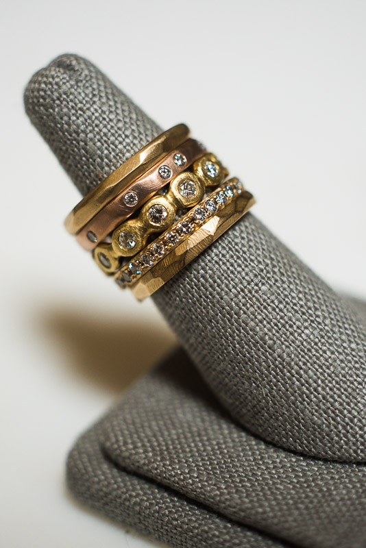San Francisco Small Business Photography Kendra Renee Jewelry ring stack