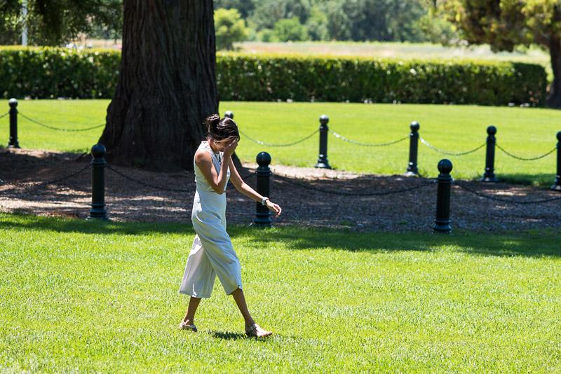 Sonoma Vineyard Proposal Photography Chateau St Jean surprised bride