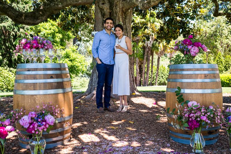 Sonoma Vineyard Proposal Photography Chateau St Jean beautiful couple