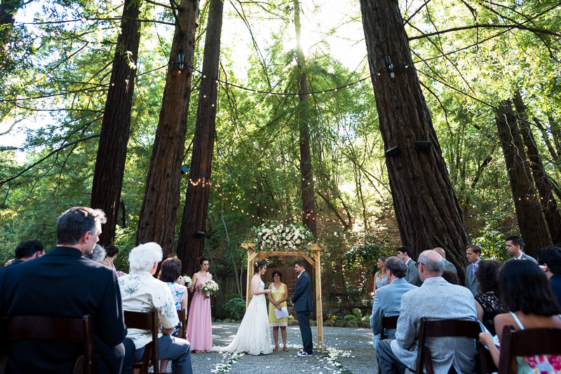 deer park villa wedding photography ceremony with trees