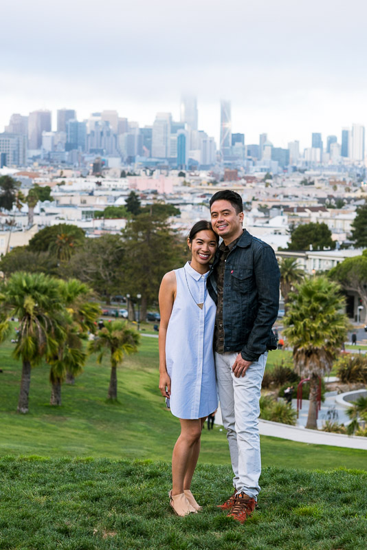 San Francisco Engagement Photography Mission District dolores park