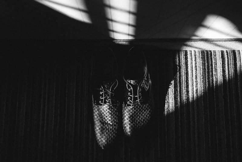 San Francisco Wedding Photographer Argonaut Hotel groom shoes