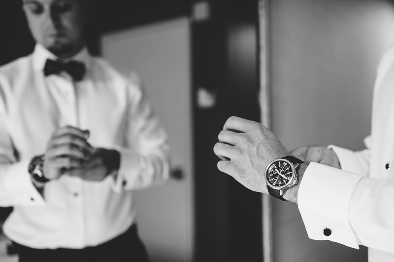 San Francisco Wedding Photographer Argonaut Hotel groom watch
