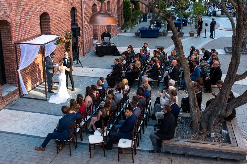 San Francisco Wedding Photographer Argonaut Hotel ceremony