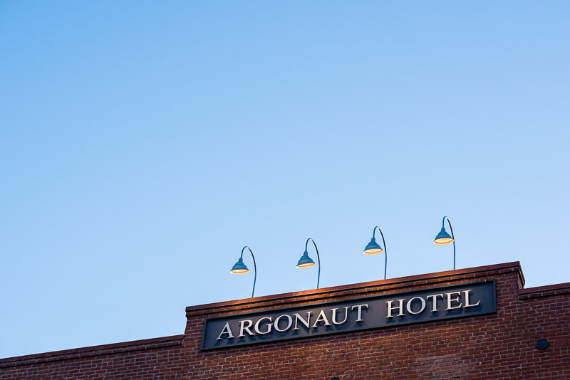 San Francisco Wedding Photographer Argonaut Hotel sign