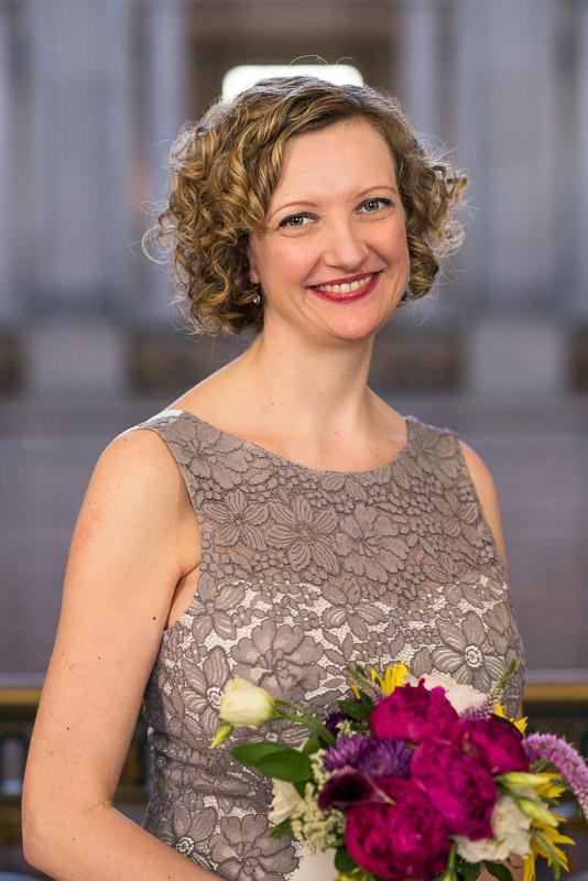 san francisco city hall bride