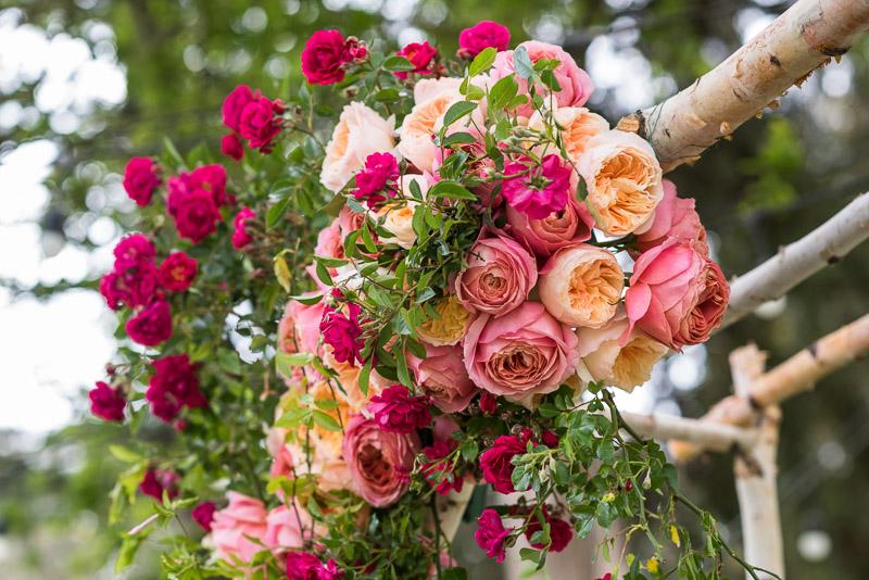 Strauss home ranch wedding floral detail