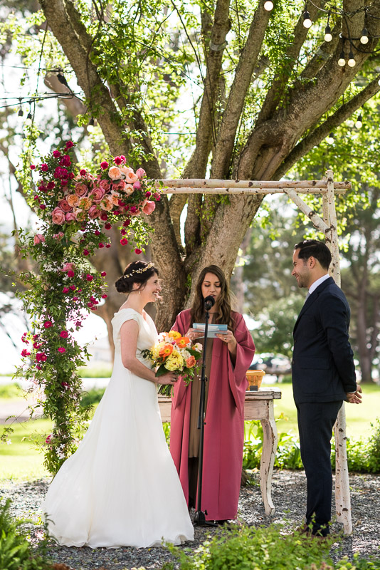 Strauss home ranch wedding ceremony