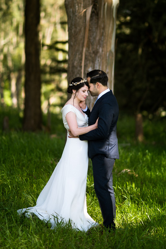 Strauss home ranch wedding couple intimate moment