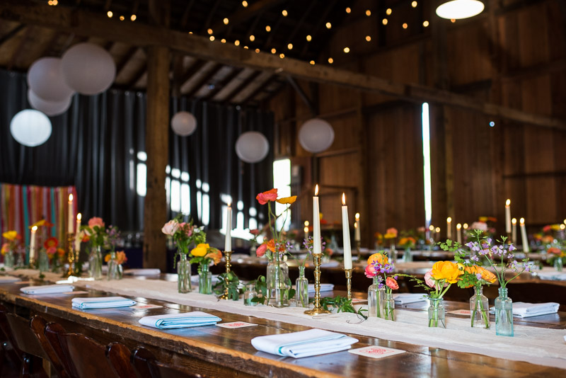 Strauss home ranch wedding barn reception