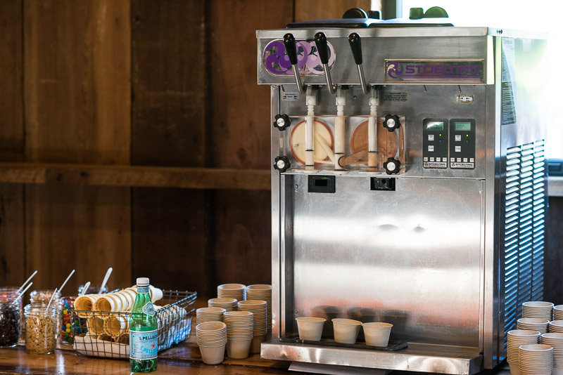 Strauss home ranch wedding ice cream machine