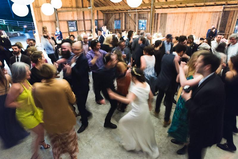Strauss home ranch wedding dancing