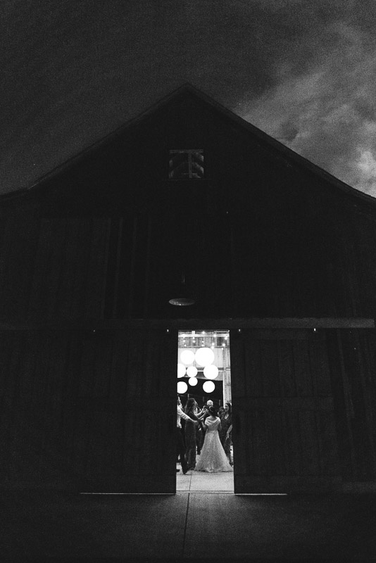 Strauss home ranch wedding night barn