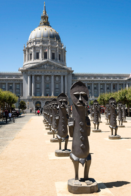 San Francisco City Hall Wedding Photography statues