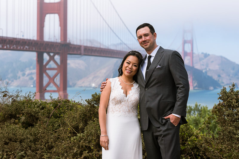 San Francisco City Hall Wedding Photography golden gate bridge