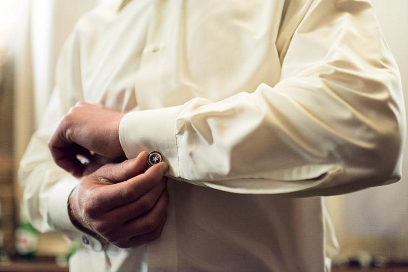 Denver Wedding Photography Wellshire Inn groom captain america cufflinks
